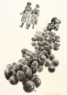 Louis Lozowick - Melons of Tiflis (1935)