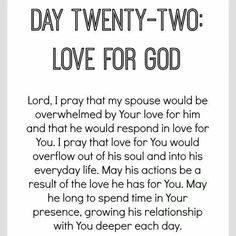Day 22 of praying for your husband