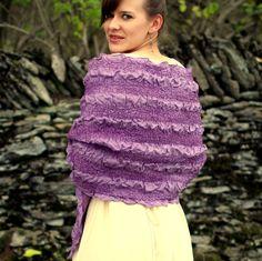 Scarf. Felted Scarf. Hand Dyed Nuno Felted Scarf. Handmade Merino Wool and Habotai Silk Scarf.. $90.00, via Etsy.