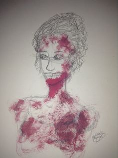 Not bad for a first attempt at a zombie. I tried to draw the poster for pride and prejudice and zombies. By Maya