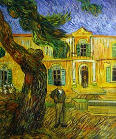 In Front Of The Asylum Of Saint-Remy. By Van Gogh