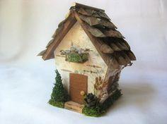 Small Birch Bark Natural Fairy House