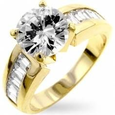 Gold Ring with Diamond From Candle