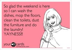 Just in time for the weekend... oh great. #cleaning #humor