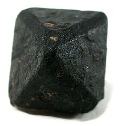 This looks like charcoal, but is actually an uncut black diamond from Sierra Leone. Gem-quality black diamonds are rare; they are mainly use...
