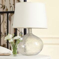 Malia Seeded Glass Lamp | Lighting | Ballard Designs