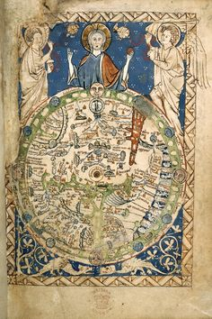 Medieval World, Medieval Art, Medieval Times, Old Maps, Antique Maps, Anglo Saxon, Cartography, World History, Middle Ages
