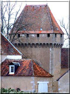Le château privé de La Motte-Feuilly dans l'Indre possède une tour-porte d'une incroyable puissance. Tous les systèmes défensifs connus au moyen âge sont visibles sur cette construction.... Sauriez vous les énoncer ?