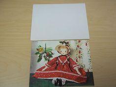 Vintage Christmas Rag Doll Card - American Artist - Telka Ackley - Mint (06/20/2013)