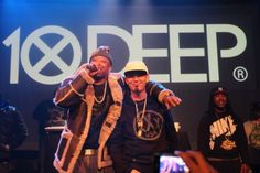 Maino and Paul Wall at 10Deep holiday party