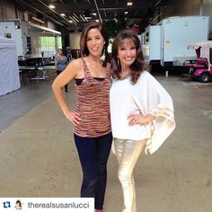 Love you girl! ・・・ Ana Ortiz and I sending a great big shout-out from backstage at @deviousmaids today!  The fun and the intrigue continue TONIGHT at 9pm on Lifetime!!! Join us tonight and tweet with our fabulous cast LIVE!!! @therealanaortiz @lifetimetv #deviousarmy #can'twait!