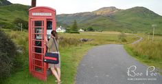 Short holiday in Scotland with a Boo Poo baby changing bag / diaper bag.