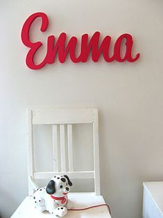 Personalised wooden names made in our workshop