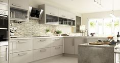 Wickes Glencoe Cashmere's cool colouring and high gloss finish offer the the ultimate in urban style - perfect for the modern home. Cosy Kitchen, Open Plan Kitchen, New Kitchen, Kitchen Ideas, Modern Kitchen Cabinets, Kitchen Interior, Kitchen Worktop, Grey Gloss Kitchen, Cashmere Kitchen