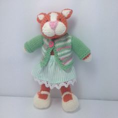 Hand knitted Kitty by Nodnook on Etsy