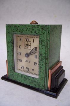 SUPERB ORIGINAL VINTAGE 1930s FRENCH ART DECO BOUDOIR ALARM CLOCK BY JAZ | Antiques, Antique Clocks, Mantel/Carriage Clocks | eBay!