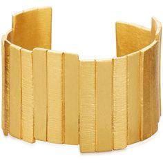 Stephanie Kantis Golden Plank Cuff Bracelet ($245) ❤ liked on Polyvore featuring jewelry, bracelets, gold, golden jewelry, hinged cuff bracelet, cuff bangle, golden bangles and bangle cuff bracelet