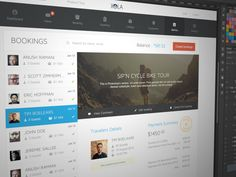 Dribbble - Booking Page Redesign by Barthelemy Chalvet