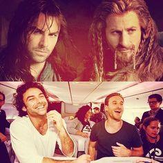 Aidan Turner (Kili) and Dean O' Gorman (Fili). The Hobbit