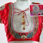 red blouse designs http://punjabisuits.net/blouse-neck-designs/