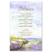 Beauty and the Beach Invite