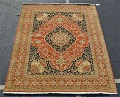 "Indo-Tabriz rug, 8'2"" x 10' Available in our December 13th Catalog   #rugs #rug #runners #orientalrug"