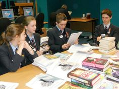Students from Baines (Poulton) & St Bedes (Lytham) discuss the long list, read their reviews & rate titles #LBOY2014