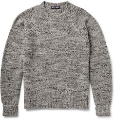 Alex Mill Grinta Marled Wool-Blend Sweater | MR PORTER