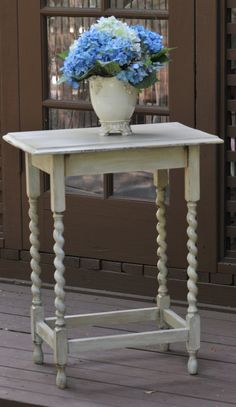 I love distressed furniture ~ have a table just like this
