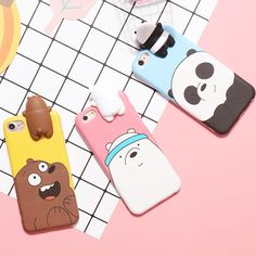 3d Iphone Cases, Funny Phone Cases, Iphone Case Covers, Iphone 8 Plus, Iphone 6, Friends Phone Case, We Bare Bears Wallpapers, Cute Birthday Gift, Bear Card