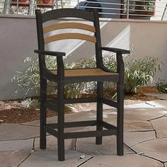 http://www.northlineexpress.com/breezesta-avanti-collection-counter-captains-chair-black-and-cedar-av-0603-219-23537.html Our Avanti Collection chairs offer a wonderful look to any outdoor seating area. Breezesta features: 100% Recycled Poly Lumber, Mold and mildew resistant, Rounded edges, Stands up to rain, wind and salt spray, UV Fade Resistant, and Color Matched Hardware.