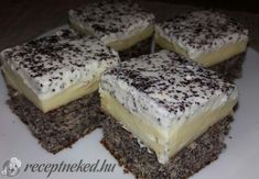 Hungarian Recipes, Pudding, Cheesecake, Good Food, Food And Drink, Sweets, Baking, Poppy, Easy Meals