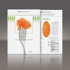 Delicious smoked salmon packaging designed for Central Epicure, sold in Costco.