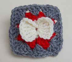 Ravelry: Bow Granny Square Crochet Tutorial pattern by bobwilson123