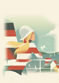 Mads Berg's illustrations are characterized by a style which translates classic poster art to a modern and timeless look. Travel Illustration, Photo Illustration, Graphic Illustration, Modern Graphic Design, Graphic Art, Illustrations Vintage, Inspiration Art, Kunst Poster, Modern Art Deco