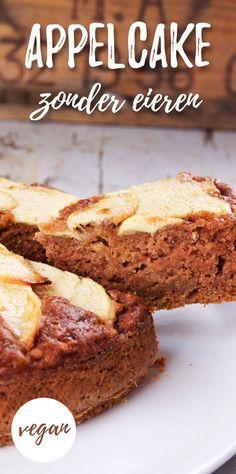 The Best three Components: Sugar-free applesauce brownies Vegan Dessert Recipes, Vegan Sweets, Vegan Snacks, Vegan Diner, Vegas Cake, Breakfast Cake, Sweet Recipes, The Best, Bakery