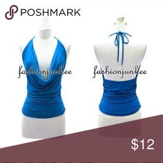 blue cowl halter top 💜 As shown! Brand new ! Tops