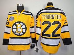 Boston Bruins #22 Shawn Thornton Yellow Winter Classic Stitched NHL Jersey->Boston Bruins Jersey->NHL Jerseys