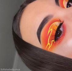 orange und gelber feuer lidschatten – - Makeup Looks Yellow Fire Makeup, Makeup Eye Looks, Eye Makeup Art, Crazy Makeup, Skin Makeup, Eyeshadow Makeup, Yellow Eyeshadow, Crazy Eyeshadow, Beauty Makeup
