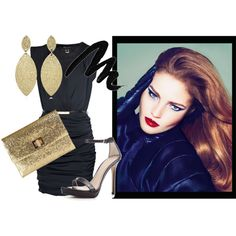 A little touch of gold.., created by theedeandrab.polyvore.com