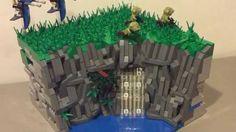 Cliff Side Chase:  Lego Star Wars Mini MOC