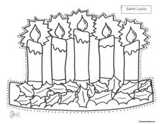 If you wonder how to celebrate St. Lucia during the winter Christmas holiday, you can do it with these cute pattern hats. Have your kids color the crown with candles for the girls and the Jultomten for the boys.