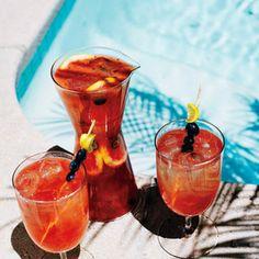 Rosé, Bourbon, and Blue Recipe #drinks  #drinkup