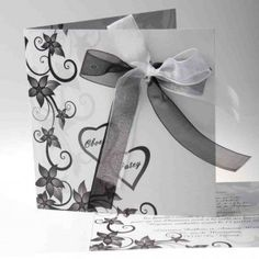 Joyeuxmariage noeud papillon faire part mariage original gris romantique JM101