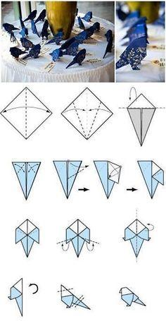 Nachhilfe Hofheim www.denkarthofheim.de Origami Vögel
