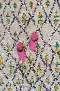 The WAYS of WOODFOLK 7'9 x 5'4 Boucherouite Rug. by pinkrugco
