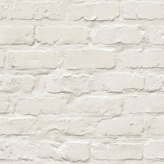 Colours White Painted Brick Wallpaper | Departments | DIY at B&Q