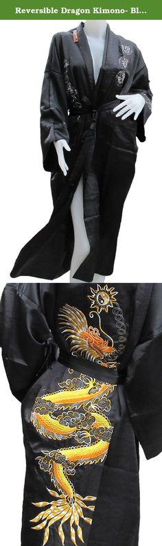 Reversible Dragon Kimono- Black Color. Brand New. Enclosed in plastic before shipping. 100% Thai Silk. These are the thicker, extra-long, robes. These robes are extremely popular items in the Thai markets. Possibly, the most unique and beautiful item you may ever give or receive!!! The authentic Oriental Dragon design is a symbol of great prosperity and high social status. The same item found in the highest quality specialty shops and boutiques for 2-3 times the price. 100% Guaranteed…