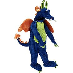 Blue Dragon Costume - Complete (4T) DreamPlayImagine //.amazon  sc 1 st  Pinterest & Amazon.com: Boys Fire Breathing Black Red Dragon Pretend Play ...