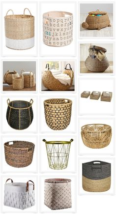 Baskets are my addiction! I love this round up of affordable baskets.